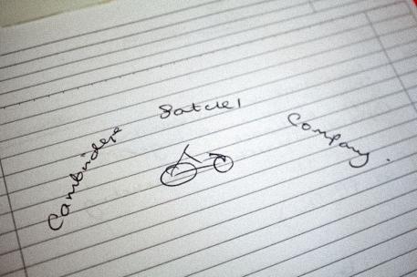 Cambridge Satchel Company logo hand drawn