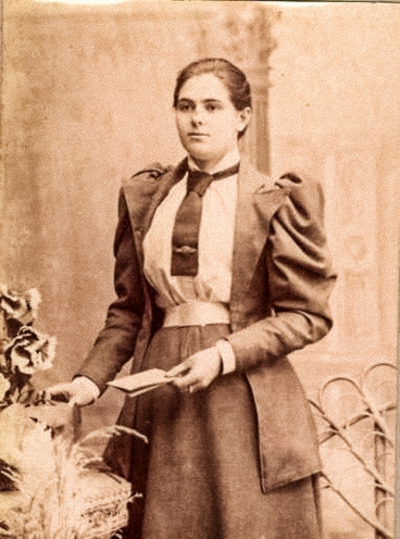 Fashion for feminists woman in tie 1890