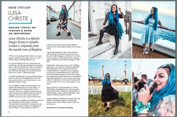 Luisa Christie Inbetweenie London Edge magazine