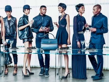 Philip Plein all black model campaign