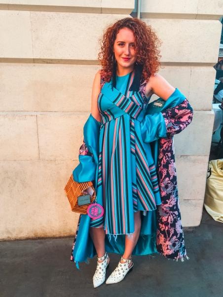 Street style London Fashion Week Roxy Henley wears Rachel Comrie