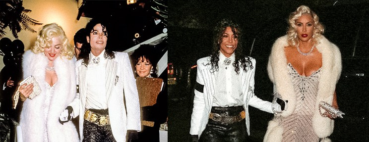 Madonna and Michael Jackson Halloween Costume Kim and Kourtney Kardashian
