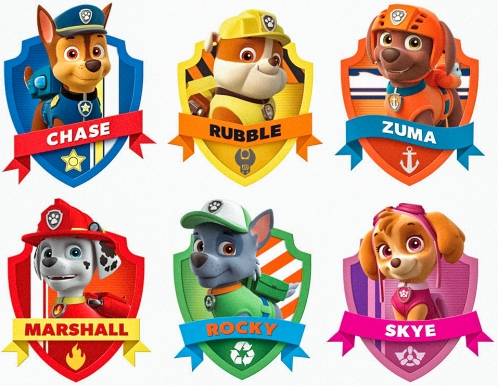 paw patrol characters gold