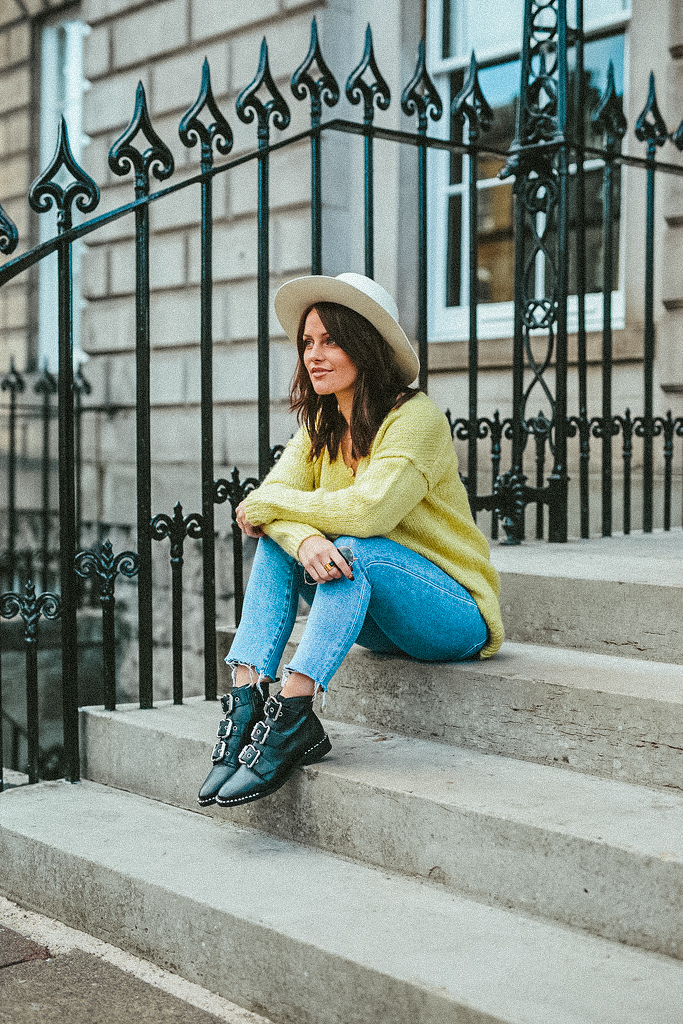 lime jumper blogger