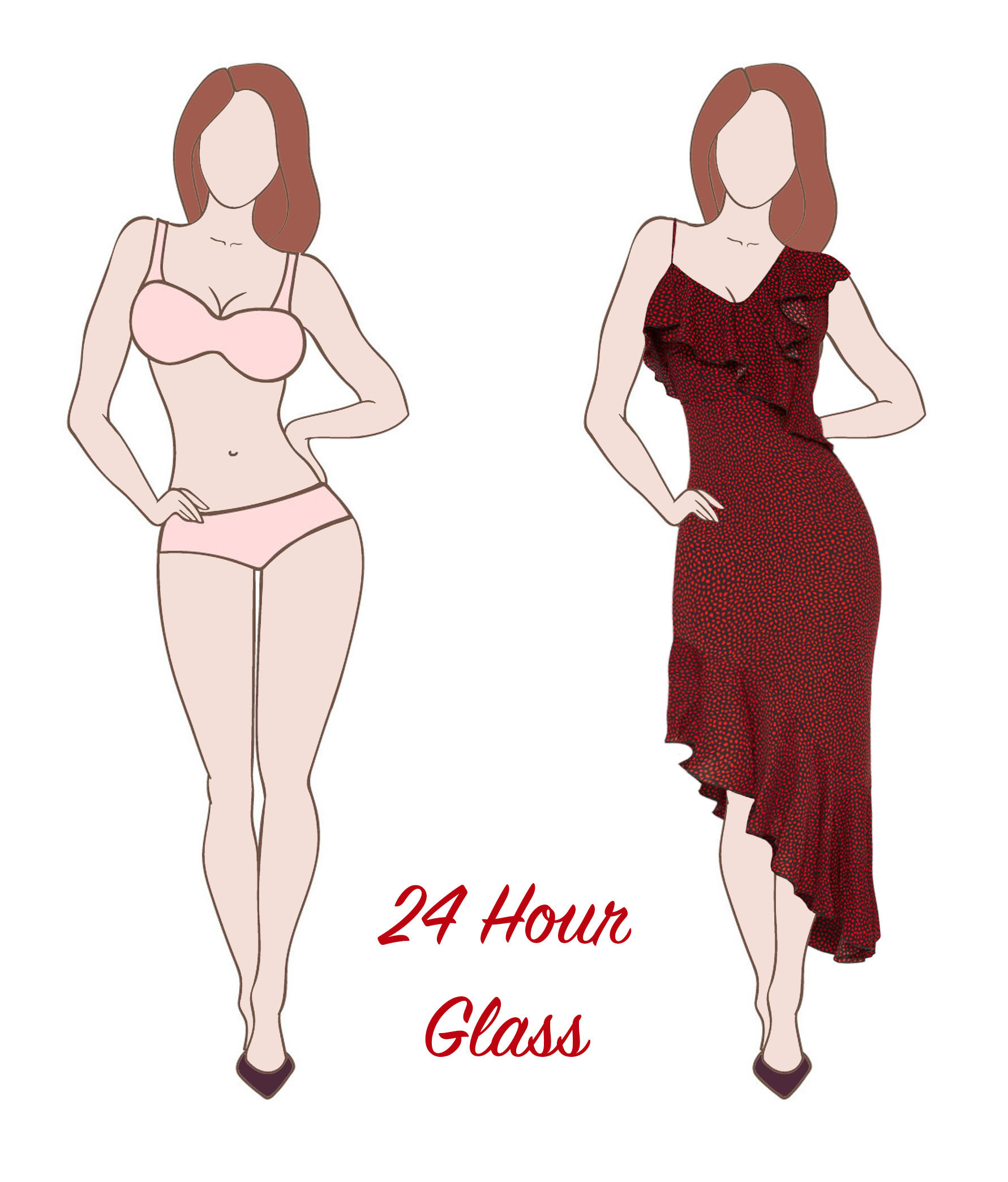 hourglass body shape dress