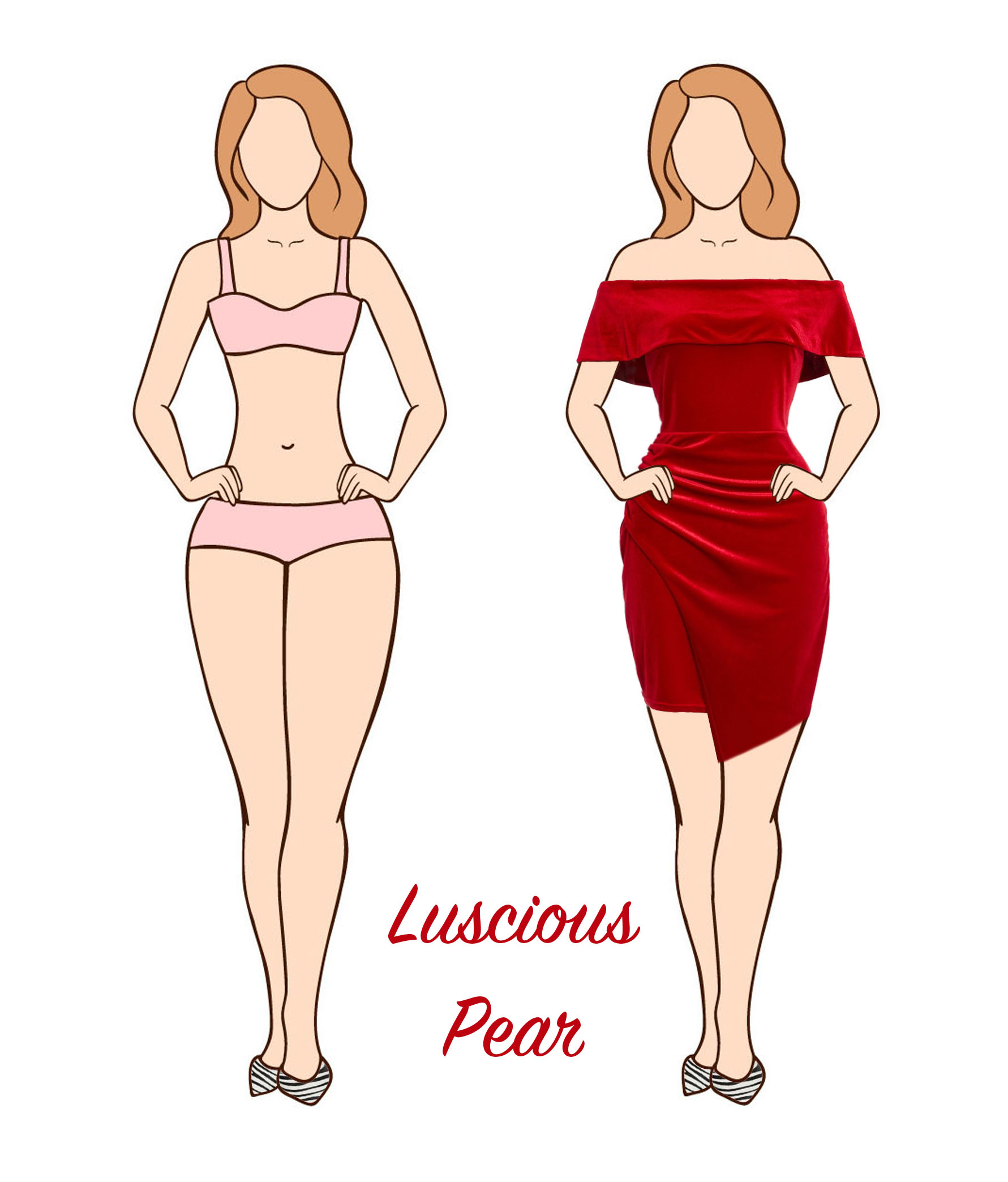 Pear body shape party dress