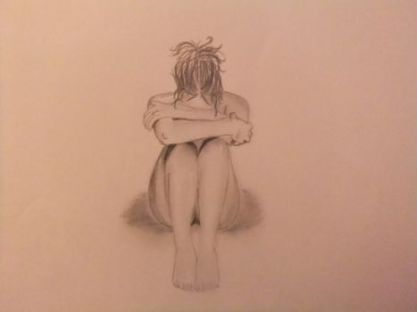 sad_woman_drawing_by_rawrimtara-d4ftise